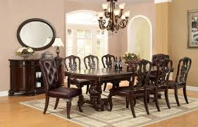 fa3319t bellagio brown cherry finish solid wood 9 piece dining