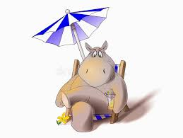 Hippo Chair Hippo In Deck Chair Stock Image Image 8619901