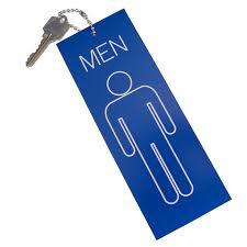 key rings mens images Mens restroom key tag jumbo keyring black 84501 jpg