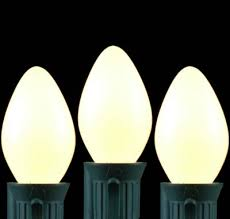 white ceramic c7 outdoor string light set on white wire novelty