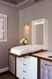 White Changing Tables For Nursery Glam Nursery With Wall Mount Concealed Drop Changing Table