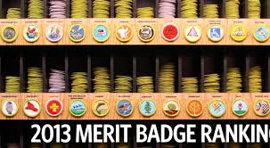 Family Merit Badge Worksheet Answers Here Are The Most And Least Popular Merit Badges Of 2013 And Of