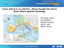 Punic Wars Map Chapter Introduction Section 1 The Roman World Takes Shape Ppt