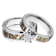 camo wedding ring sets his and s matching mossy oak duck blind camo