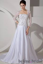 plus size wedding dresses with 3 4 sleeves helenebridal com