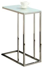 monarch specialties accent table white metal with frosted