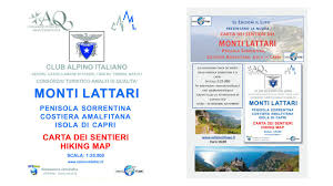 Capri Italy Map by Buy The New Hiking Map Of Monti Lattari Online Cai Monti Lattari