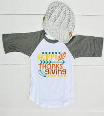 happy thanksgiving raglan shirt for boys thanksgiving shirt for