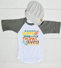 happy thanksgiving raglan shirt for boys thanksgiving shirt for