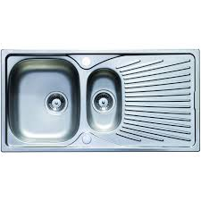 Kitchen Sink Pack Wickes 1 1 2 Bowl Luxe Reversible Kitchen Sink Pack Stainless