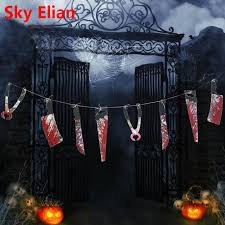 haunted house decorations 12pcs horror props blood knife hanging decoration horror