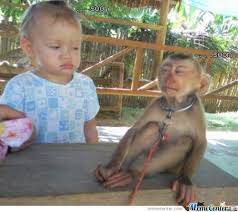 Baby Monkey Meme - baby vs monkey soon by ben meme center