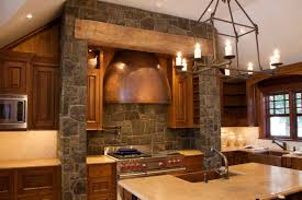 decor faux stone wall with lights and cabinets for kitchen faux stone wall with chandelier and cabinets for home decoration ideas