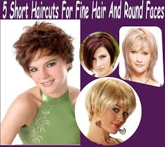 5 short haircuts for fine hair and round faces hairstyles easy