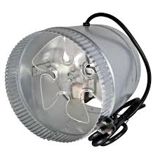 suncourt 6 inline duct fan suncourt inductor 8 in corded in line duct fan db208c the home depot
