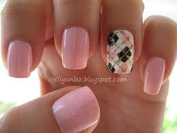 Baby Nail Art Design 35 Gingham And Plaid Nail Art Designs Art And Design
