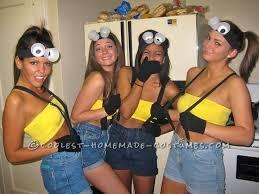Cheap Sluty Halloween Costumes 25 Minion Costume Ideas College
