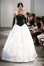 vera wang robe de mari e robe de mariée noir et blanc http www modanie fr robe de mariee