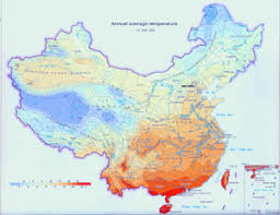 temperature map climate map of china china climate map annual temperature and