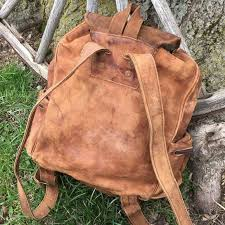 Rugged Leather Backpack Old Leather Backpack Os Backpacks