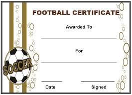 football certificate templates free 28 images 10 football