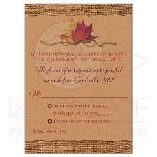kraft paper wedding invitations fall in wedding enclosure card printed burgundy wine ribbon