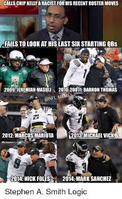 Funny Memes 2012 - calls chip kelly a racist for his recent roster moves fails to look
