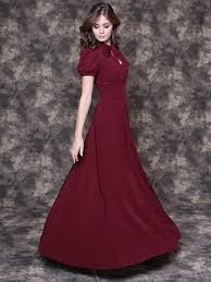Formal Dresses With Pockets Long Marsala Dress With Pockets Long Burgundy Dress Burgundy