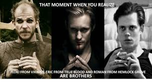 Floki Meme - that moment when you realize floki eric and roman are brothers by