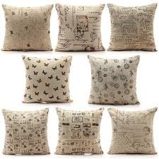 Cushions Shabby Chic by Vintage Shabby Chic Linen Pillow Case Home Bed Decor Cushion Cover
