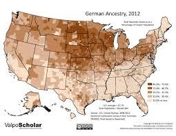 German States Map by 06 06 German Ancestry 2012