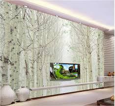 online get cheap wall murals photos aliexpress com alibaba group custom 3d wallpaper white birch forest landscape murals photo wall murals wallpaper 3d wallpaper for room