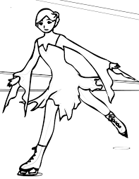 ice skating coloring page handipoints