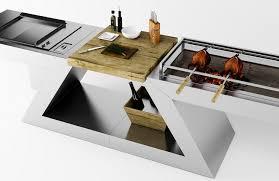 cuisine design rotissoire meuble kitchenette de design italien pour intérieur et extérieur
