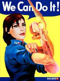 Rosie The Riveter Meme - commander shepard the riveter by mpissott rosie the riveter