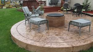 Stamped Concrete Patio Design Ideas by Fire Pit Great Stamped Concrete Patio With Fire Pit Stamped