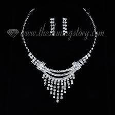 Diamond Chandelier Necklace Wedding Bridal Prom Rhinestone Chandelier Necklaces And Earrings