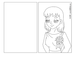 coloring page card coloring pages super mom page aj7 card