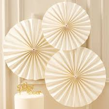 paper fan circle decorations ivory circle fan decorations metallic perfection ginger ray