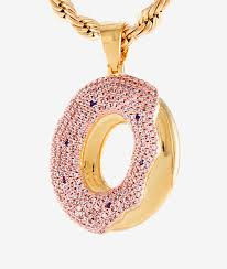 necklace gold pink images King ice x odd future of donut pendant gold necklace zumiez jpg