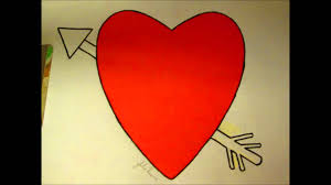 making my own heart and arrow coloring page for valentine u0027s day