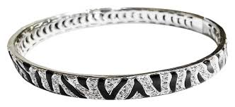 black bracelet white gold images Roberto coin quot zebra quot karat white gold with diamonds black enamel jpg