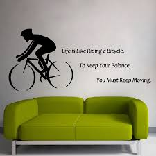 quotes for bike stickers online shopping the world largest quotes bike wall sticker quote life is like riding a bicycle sport vinyl wall decal bike wall