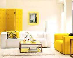 yellow tufted room partition with white wall color for amazing