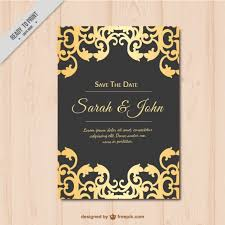 and black wedding invitations wedding invitation gold and black vector free