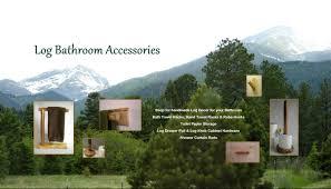Handmade Bathroom Accessories by Rustic Log Decor