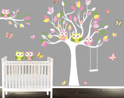 Tree Decal For Nursery Wall Wall Decal Owl Wall Decals For Nursery Baby Owl Wall Decals