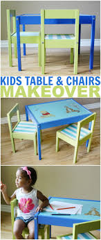 childrens table and 2 chairs kids table and chairs makeover frugal mom eh