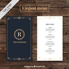 sle menu design templates dinner menu template
