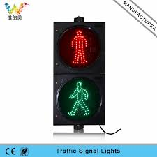 stop sign with led lights 300mm red green dynamic stop go led pedestrian signal light wide